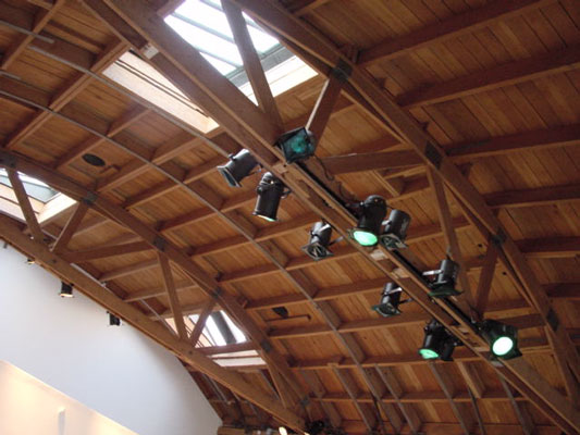 Gallery Retail 731 Bow Truss Ceiling
